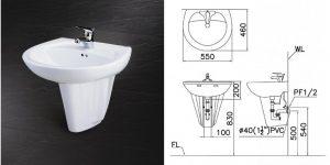 Chậu rửa mặt L2220/P2436 giá rẻ ưu đãi